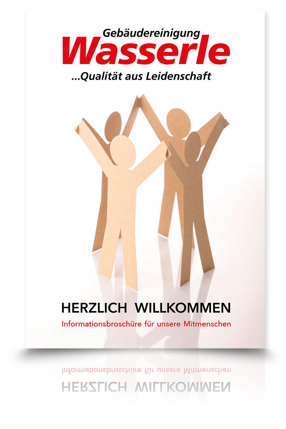 Gebäudereinigung Wasserle - Mitarbeiter-Broschüre