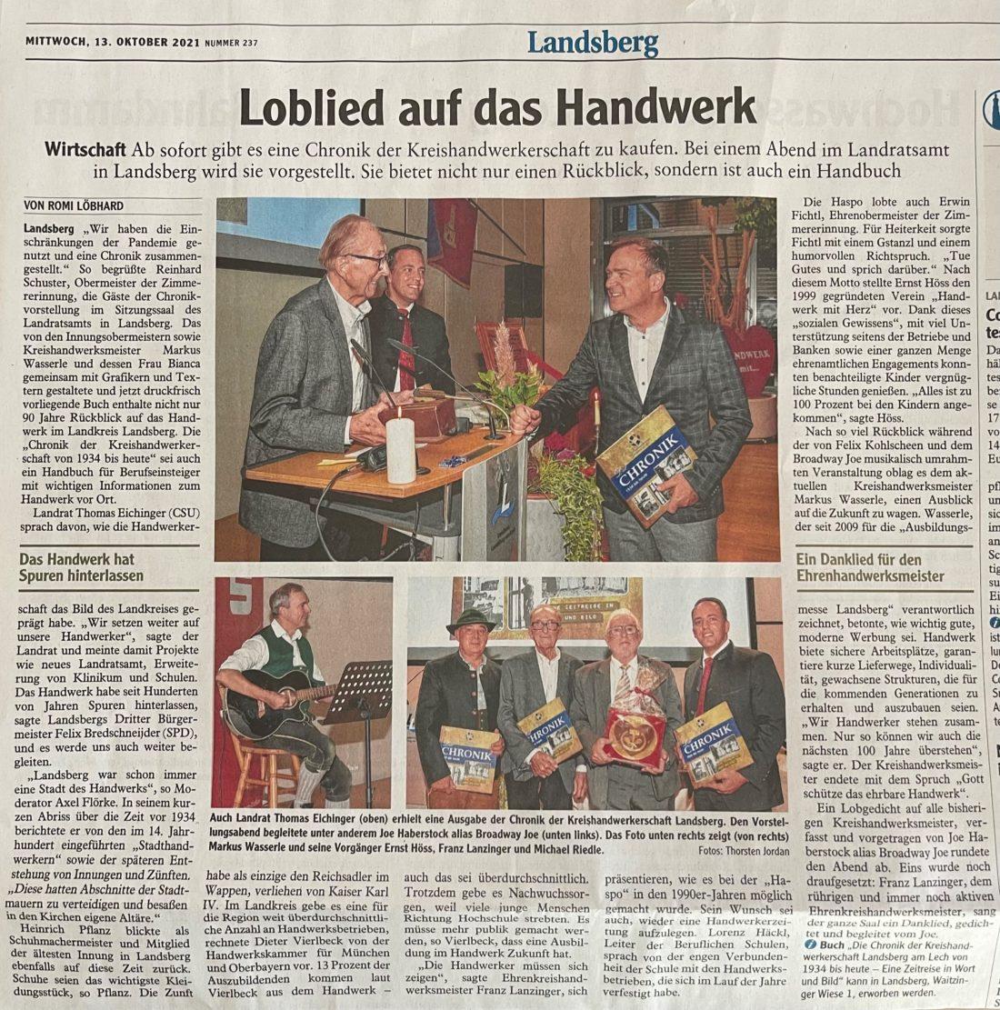 Markus Wasserle von der Gebäudereinigung Wasserle aus München ist Kreishandwerksmeister